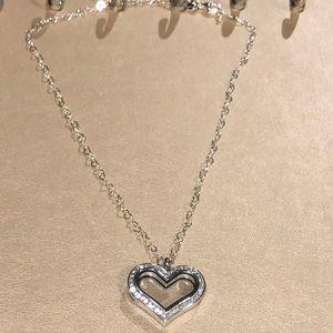 Origami Owl Heart Locket & Heart Chain